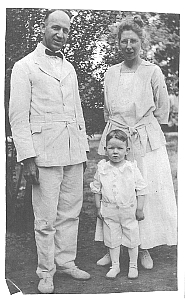 Harold and Mary in China with their first son Harold